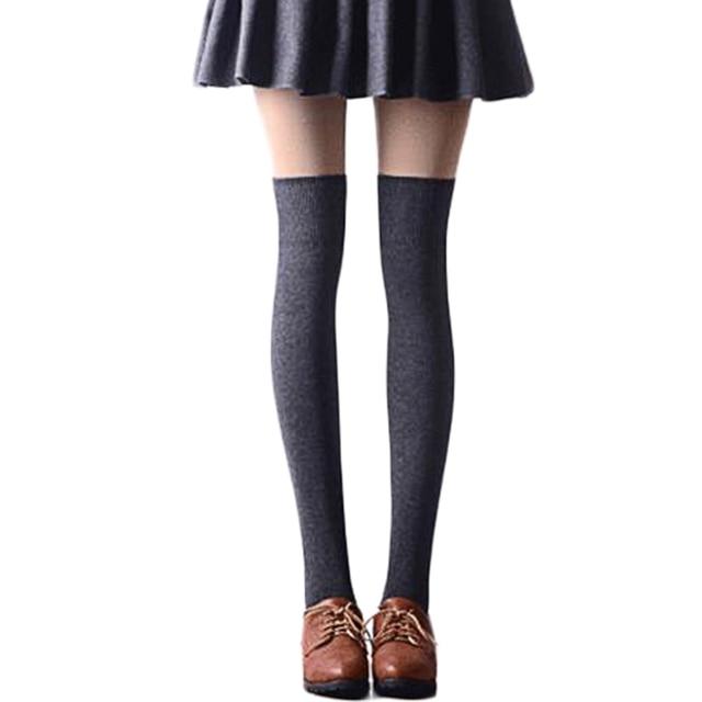 6a5dfde7fbf Women Socks Stockings Warm Thigh High Over the Knee Socks Long Cotton  Stockings medias Sexy Stocking