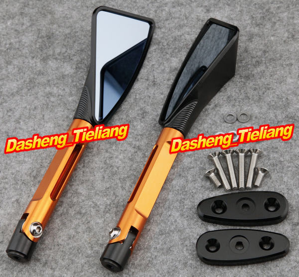 ФОТО CNC Aluminum L&R Rear Side Mirrors For Suzuki GSXR1000 2001-2004 GSXR600 GSF1200S SV1000S 2003-2007 & SV650S 2003-2008, Orange