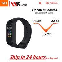 Original XiaoMi Mi Band 4 Smart Wristband Fitness Bracelet MiBand Band 4 Heart Rate Time Big Touch Screen Message Smartband