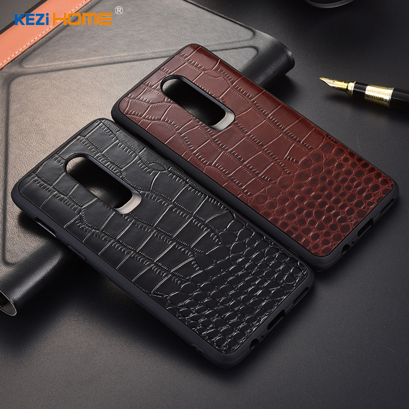 Case for OnePlus 6 KEZiHOME Luxury Crocodile texture Genuine leather back cover for OnePlus 6 6.28'' Phone cases