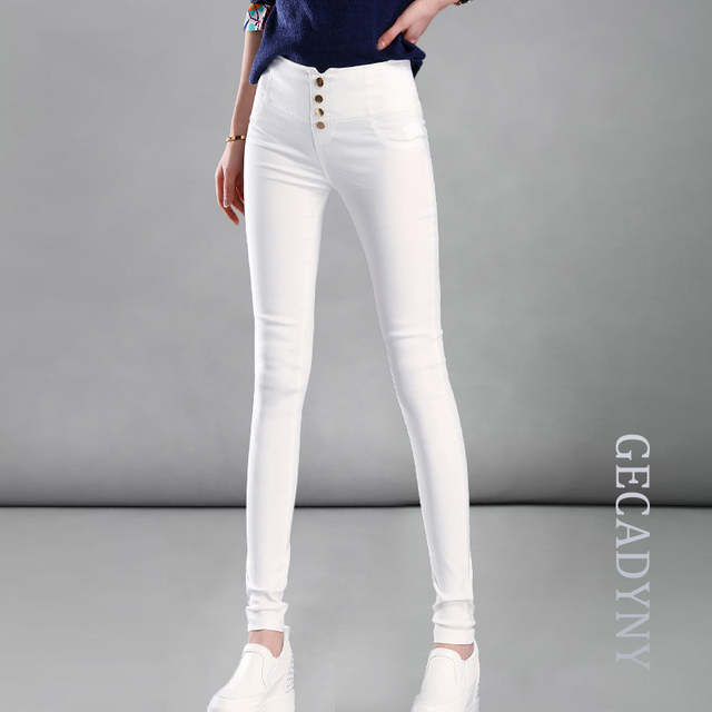 Moda 2017 Nuevo Verano de Las Mujeres Elegantes OL del Desgaste del Trabajo Pantalones Lápiz Estiramiento Delgado Pantalones de Las Polainas de Las Mujeres/Mujer Plus tamaño bottoms