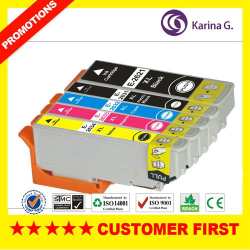 5 X Compatible Ink Cartridges for 26XL Ink set  for Epson Premium XP-510 XP-610 XP-615 XP-810 Printer inkjet Cartridge