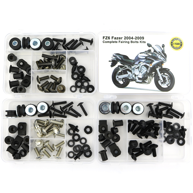 For Yamaha FZ6 Fazer 2004-2009 Motorcycle Full Fairing Bolts Kit Bodywork Screws Steel Fairing Clips Speed Nuts Covering Bolts