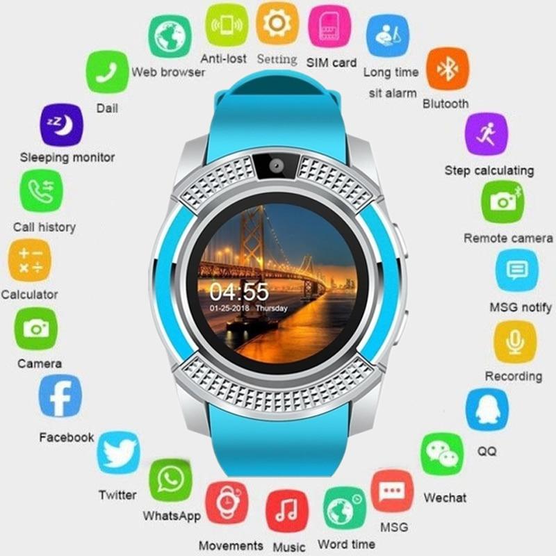 GEJIAN smart watch men women touch screen Android Bluetooth waterproof  sports step watch with camera SIM card slot PK DZ09
