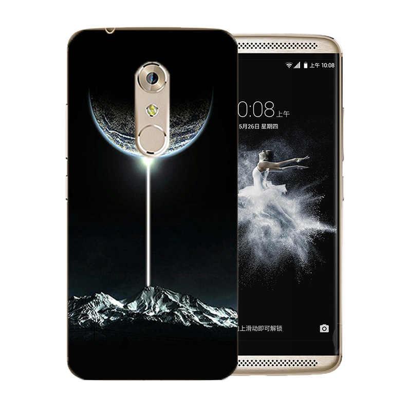 ZTE Axon 7 için A2017 Kılıfları Yumuşak Silikon Yüz Buruşturma Desen 5.5 inç Telefon Kılıfları Ultra Ince TPU ZTE A2017 arka kapak