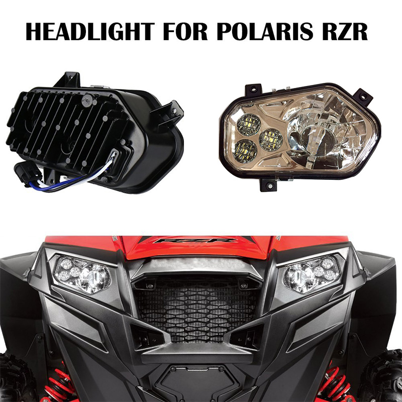 LED Headlight for Polaris RZR Razor 900 XP EFI 800 Right and Left headlamp brake pads set for polaris atv 900 ranger rzr xp efi 2012 2013 2014 2015 900 rzr xp4 900 2013 2014 2015