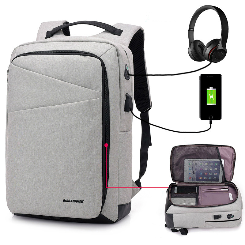 New Famous Design Multifunctionpreppy College Style Business Laptop Backpack Usb Charge Waterproof Double Shoulder Bags