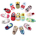 95 Pattens Lovely Cotton Baby Shoes Unisex Newborn Cartoon Elastic First Walkers 0-12 Months Crib Shoes