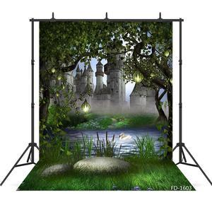Image 1 - יער טירת אגם אגדות צילום תפאורות ויניל בד רקע תמונה סטודיו ילדי תינוק מקלחת Photophone