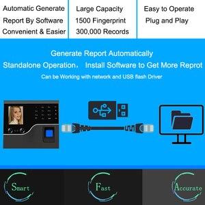 Image 5 - بصمة وقت نظام تسجيل الحضور البيومترية الموظف على مدار الساعة بصمة الوجه USB/TCPIP وقت آلة نظام التحكم في الوصول الباب