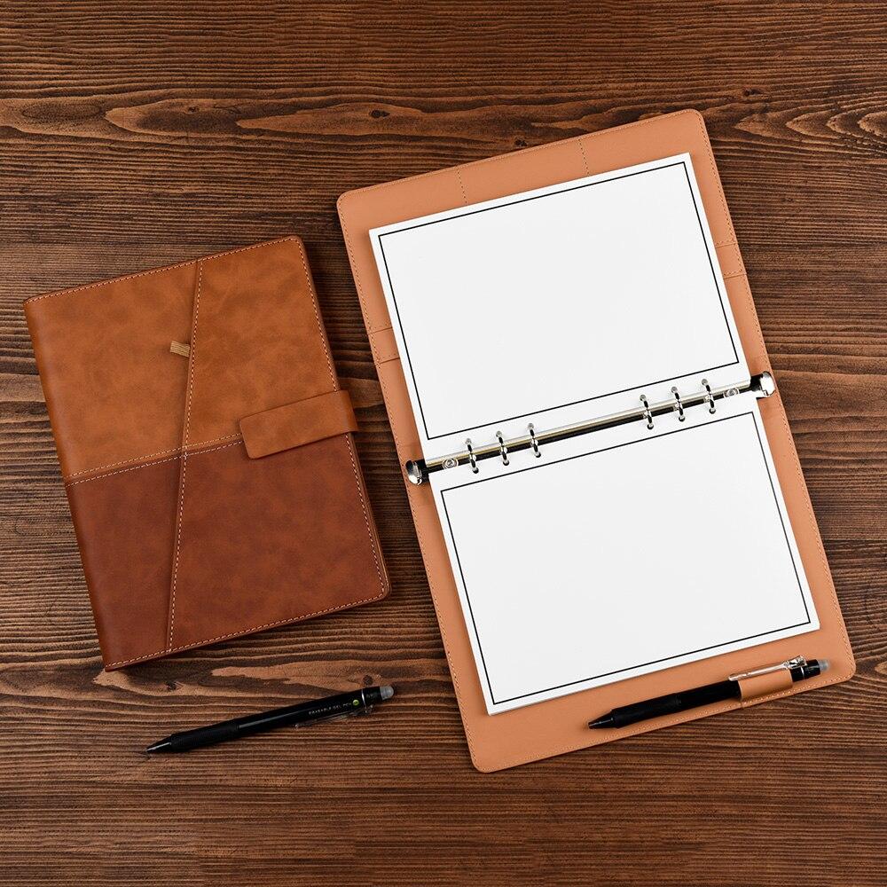 Leather Wirebound Reusable Cloud Storage Smart Notebook 5