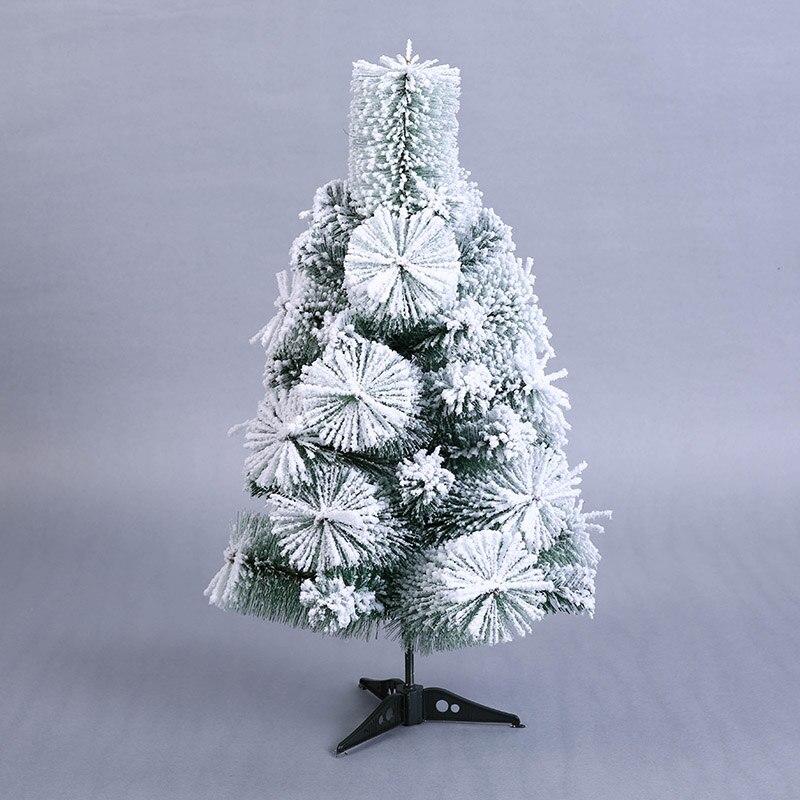 Mini Artificial Christmas Tree Small Flocking Snow Xmas ...