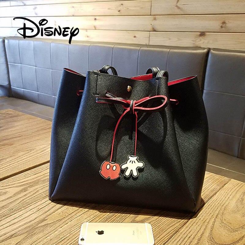 Disney рюкзак Микки Маус для женщин мультфильм Леди Мода девушка хозяйственная сумка PU сумки высокой емкости Досуг Мумия уличные сумки