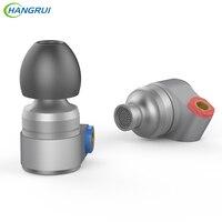 HANGRUI T2 Music Play Earphone Headset Double Dynamic Earplug Noise Cancelling Earpiece In Ear Earplug For
