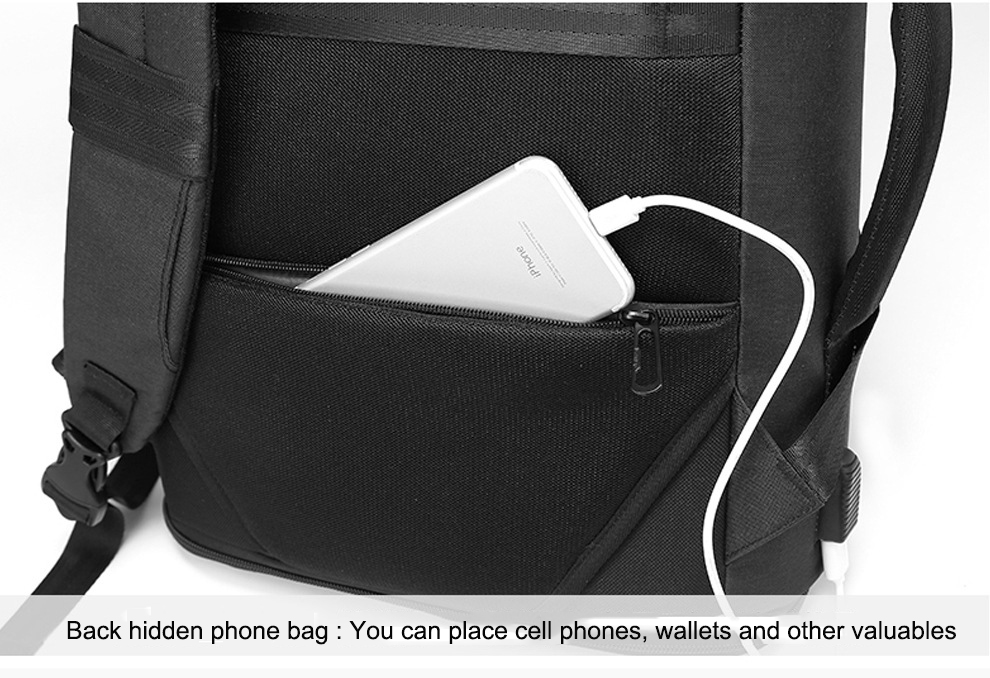 com carregador USB, mochilas casuais fashion unissex