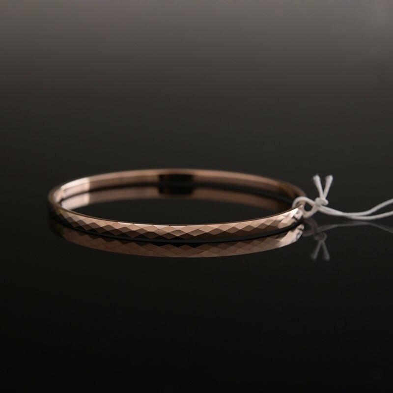 Haute qualité belle plaqué or Rose tungstène or Bracelet Bracelet bijoux pour femme/filles/dame boîte-cadeau gratuite - 4