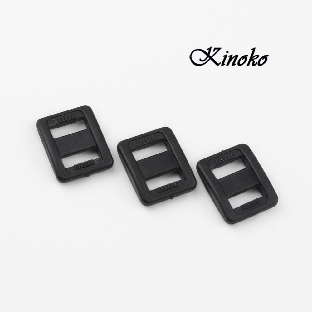 Tireless 100pcs/pack Plastic Black Slider Tri-glide Adjust Buckles Straps Webbing Size 3/8 10mm Free Shipping #mb0039 Durable Service Arts,crafts & Sewing
