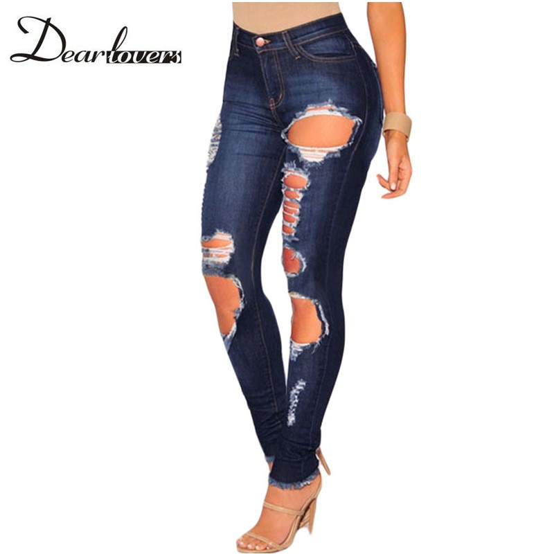 Popular Plus Size Ripped Skinny Jeans-Buy Cheap Plus Size Ripped ...