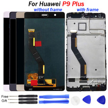 LCD P9 Plus For Huawei P9 Plus LCD screen Touch display Digitizer Assembly With Frame EVA L09 L19 VIE L09 L29 display Screen new lcd display touch screen digitizer assembly replacement assembly with tools for huawei p9 smartphones black