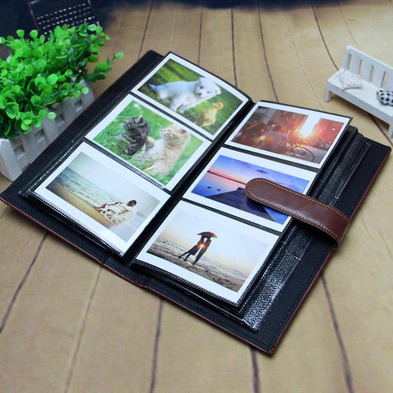 PU Leather buckle surface DIY 300 Pockets 5 inch Album Storage Case For Polaroid Mini Film Photo FujiFilm Instax Album