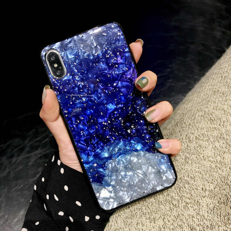 Lấp Lánh Đá Cẩm Thạch Ốp Lưng Điện Thoại iPhone 6 6S 8 7 Plus X 11 Pro Ốp Lưng 3D Họa Tiết Mềm TPU ốp Lưng Cho iPhone 7 8 Plus XR 11