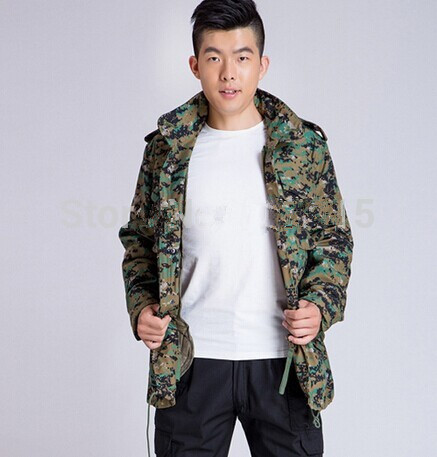 ФОТО M65 military jacket jungle camouflage military uniforms combat warm clothes winter jacket