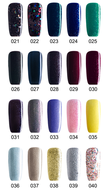 Buy 5 Get 1 Free, Glitter Nail Gels Soak Off LED UV Nail Gel Lacquer (DHL Global Mail Delivery)