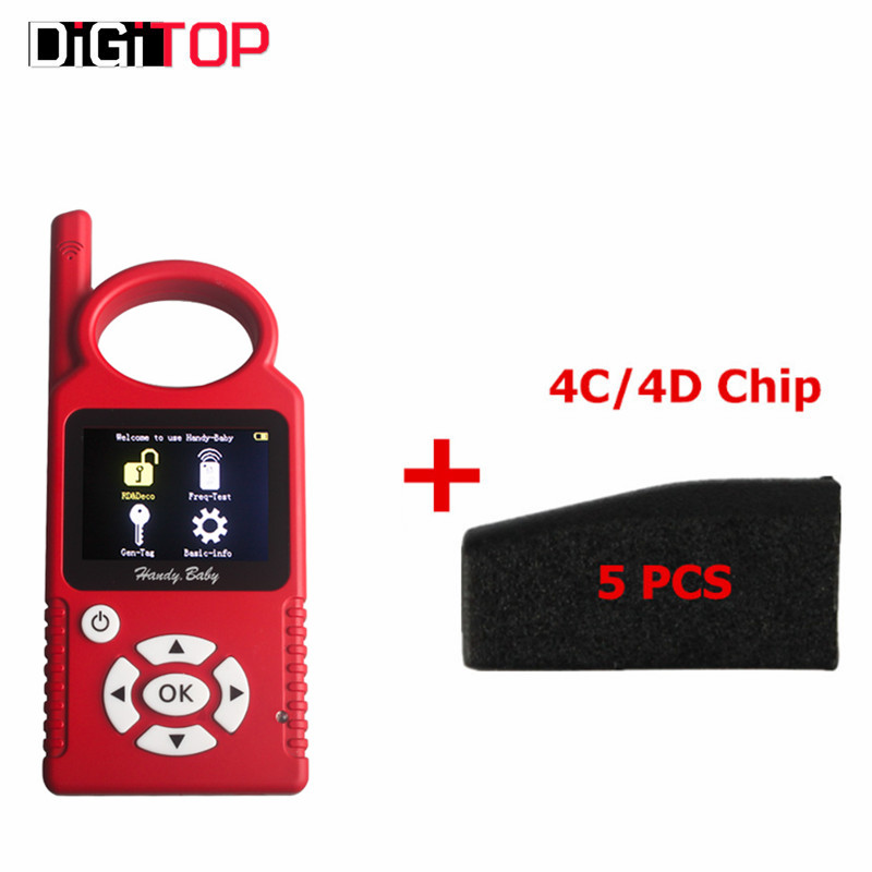 V6.1.0 Handy Baby CBAY Hand-held Car Key Copy Auto Key Programmer for 4D/46/48 Chips CBAY Chip Programmer Plus 4C/4D Chip