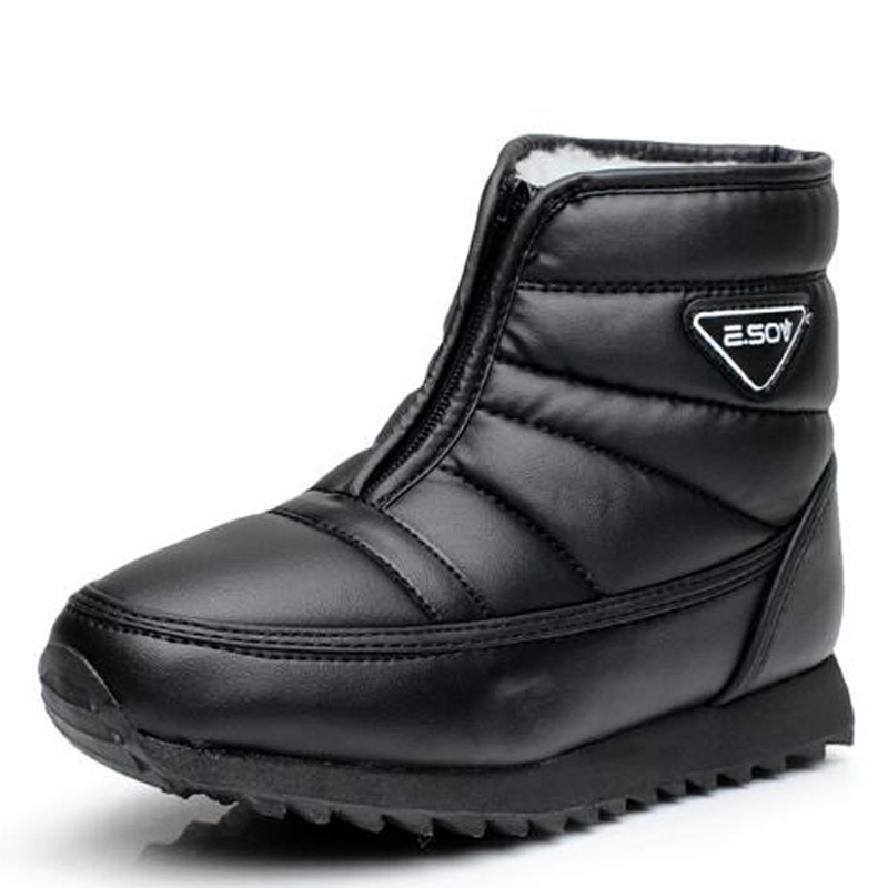 Men boots 2017 new arrivals platform snow boots waterproof non slip winter shoes botas hombre for