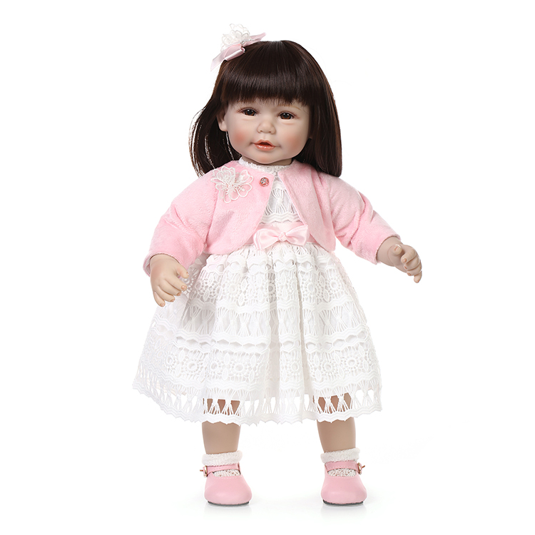 18inch American girl doll Sweet baby doll Birthday Gift Toys for Girls NEW design with soft cotton body 22 inches sweet girl dolls brown hair 55cm doll reborn baby lovely toys cute birthday gift for girls as american girl