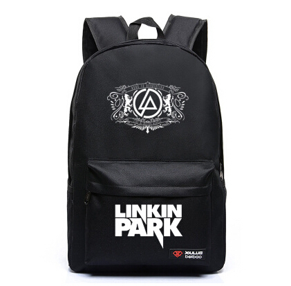 Dropship Harajuku Canvas Galaxy Rock Music Linkin Park Printing Backpack Hip Pop School Bags for Teenagers Travel Rucksack motti regev pop rock music aesthetic cosmopolitanism in late modernity
