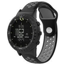 Для SUUNTO CORE спортивный браслет сменный силиконовый ремешок для часов SUUNTO CORE все черные спортивные умные часы ремешок на запястье