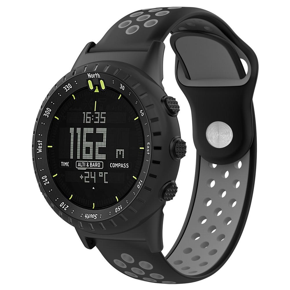 Light Soft Silicone Sports Wristband Replacement Watch Band Wrist Strap For SUUNTO CORE All Black Sports Smart Watch W/Tools