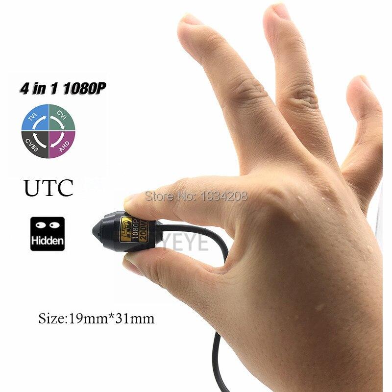 CCTV Mikro Kugel Sony IMX323 Senor 2.0MP 1080 P Minigewehrkugel AHD/TVI/CVI/CVBS Kamera UTC 4 IN 1 Verdeckte Sicherheits Verwendung Mit halterung