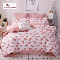 SlowDream Watermelon Bedspread Cartoon Bedding Set Double Duvet Cover Bed Linens Set Euro Bed Sheet Single Nordic Bed 150/200