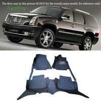 With 2 Rows Of Seats Interior Accessories Floor Mats Carpets Foot Pad For Cadillac Escalade