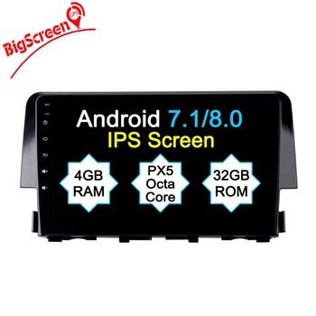 The Newset Android8.0 8 Core 4GB RAM 32GB ROM Car No DVD Player GPS Navi For Honda Civic 2015 2016 multimedia Unit Autoradio image