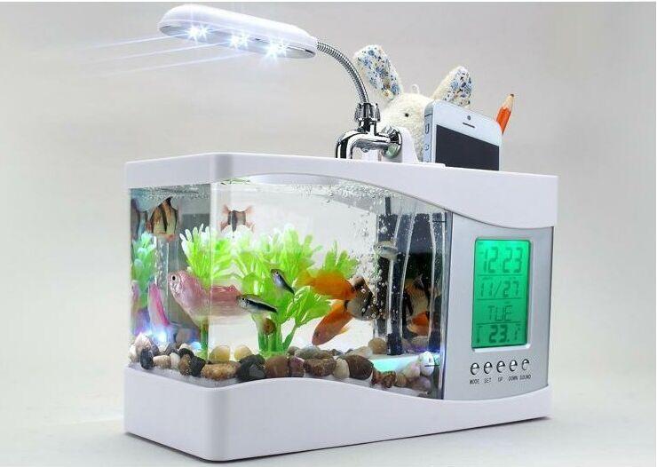 Buy 2016 popular mini fish tank aquarium for 1 fish 2 fish store