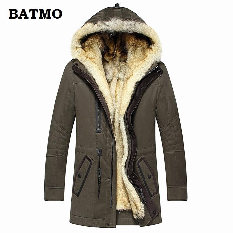 Batmo 2019 new arrival winter high quality warm wolf fur liner hooded jacket men Hat Detachable Batmo 2019 new arrival winter high quality warm wolf fur liner hooded jacket men,Hat Detachable winter parkas men 1125