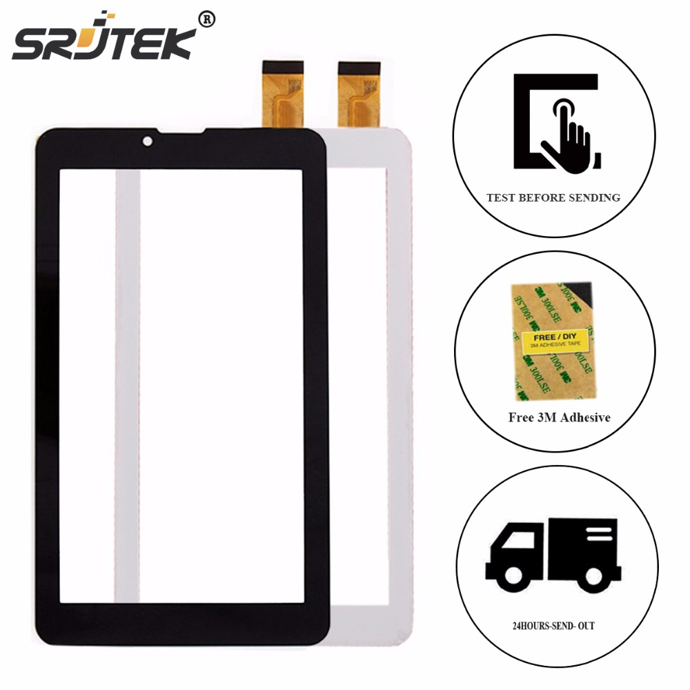 SRJTEK New Touch screen Digitizer 7 inch For Explay Tornado 3G Tablet Outer Touch panel Glass Sensor replacement