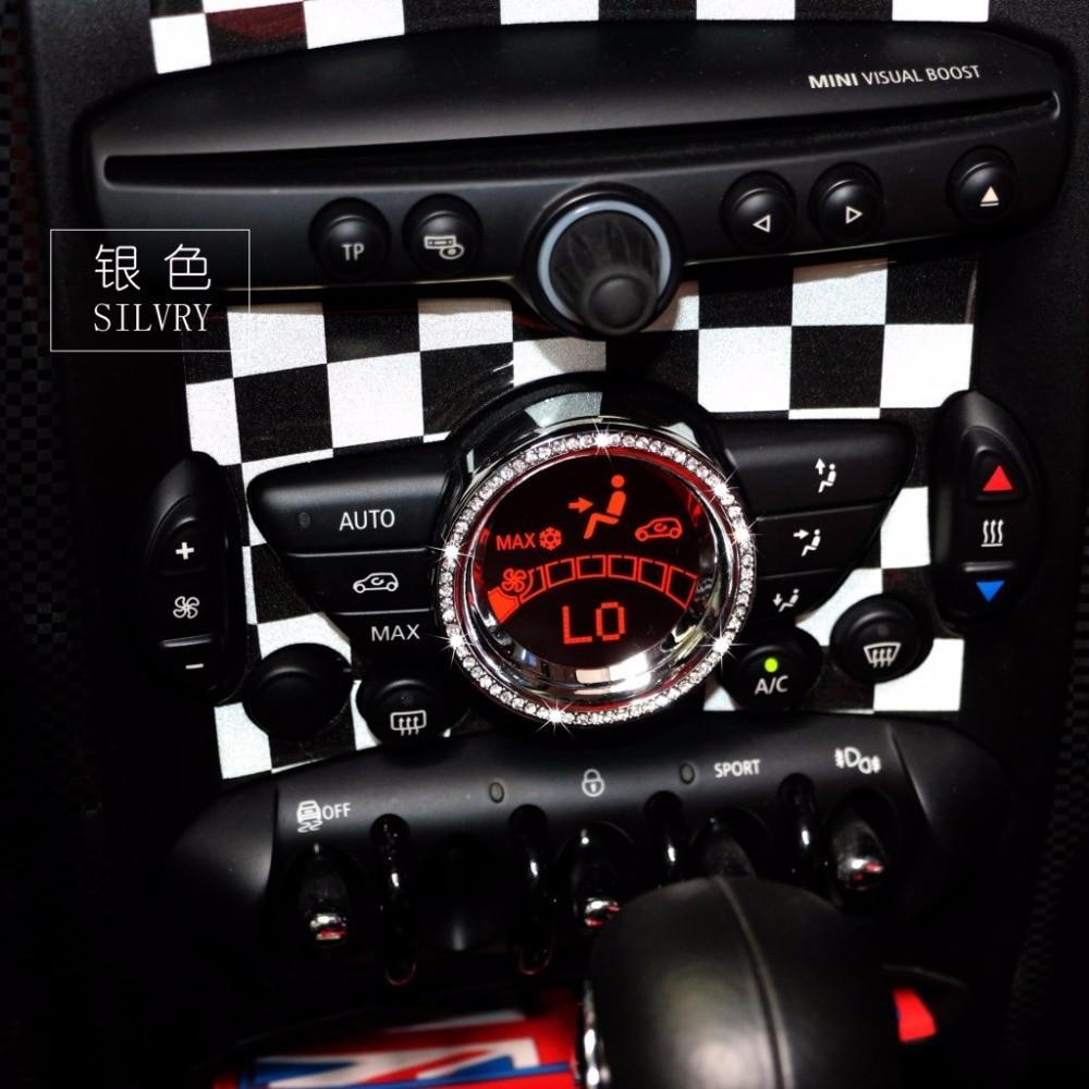 US $21 26 |car Air conditioning Display screen For Mini Cooper F56 F55 Trim  interior accessories diamond decorated ring stickers Mini 3D -in Interior