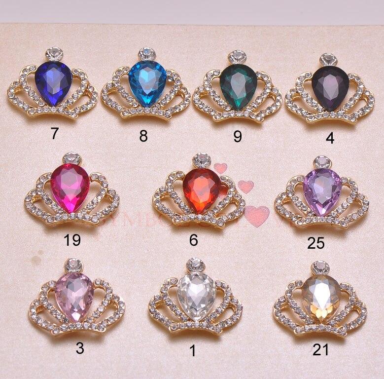 J0858 32mmx28mm rhinestone button rhinstone cluster light gold plating flat back 100pcs lot all crystals