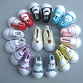 Free Shipping 1 pair 5cm Canvas Shoes For BJD Doll Fashion Mini Toy Shoes Bjd Doll Shoes for Russian Doll Accessories