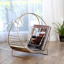 Living room, books and newspapers, floor type, modern small iron art storage bookshelf in magazine rack books for living