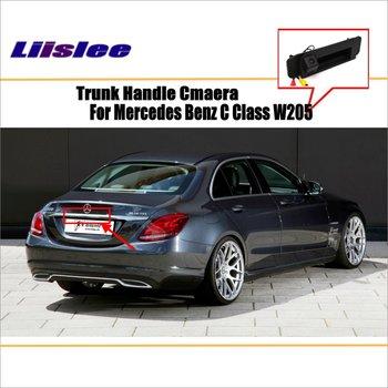 Car Rear View Camera For Mercedes Benz C Class W205 / Reverse Camera / HD CCD RCA NTST PAL / Trunk Handle OEM for mercedes benz clk class w209 a209 c209 2002 2009 hd ccd car rear view reverse camera sets rca