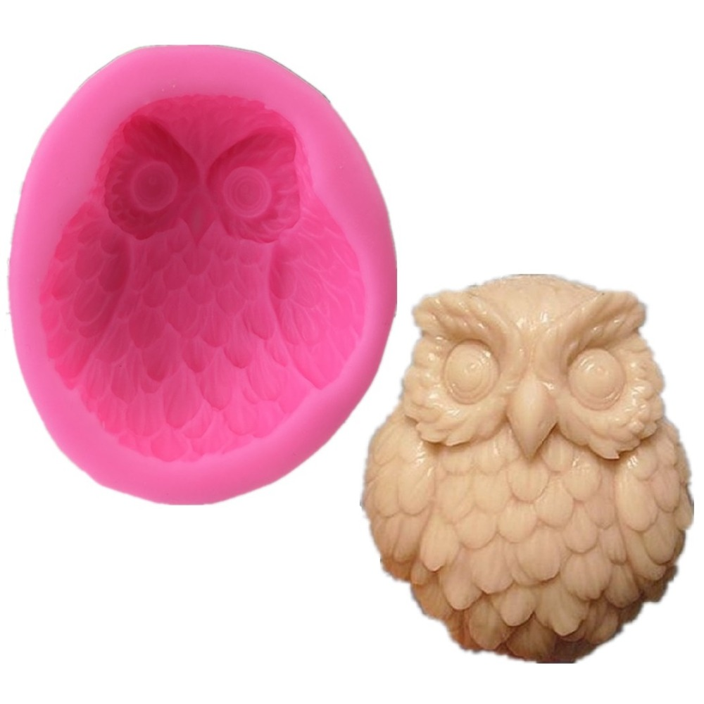 3D Owl Nighthawk Silicone Soap Mold Chocolate Mould Soap Candle DIY Mold Soap Making Mold Craft Art Cake Fondant Tool