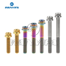 Wanyifa M6x10 15 20 25 30 35 40 45 50 55 60 65 70mm Titanium Flange Hex Head Bolt Bicycle Motorcycle Car Modification