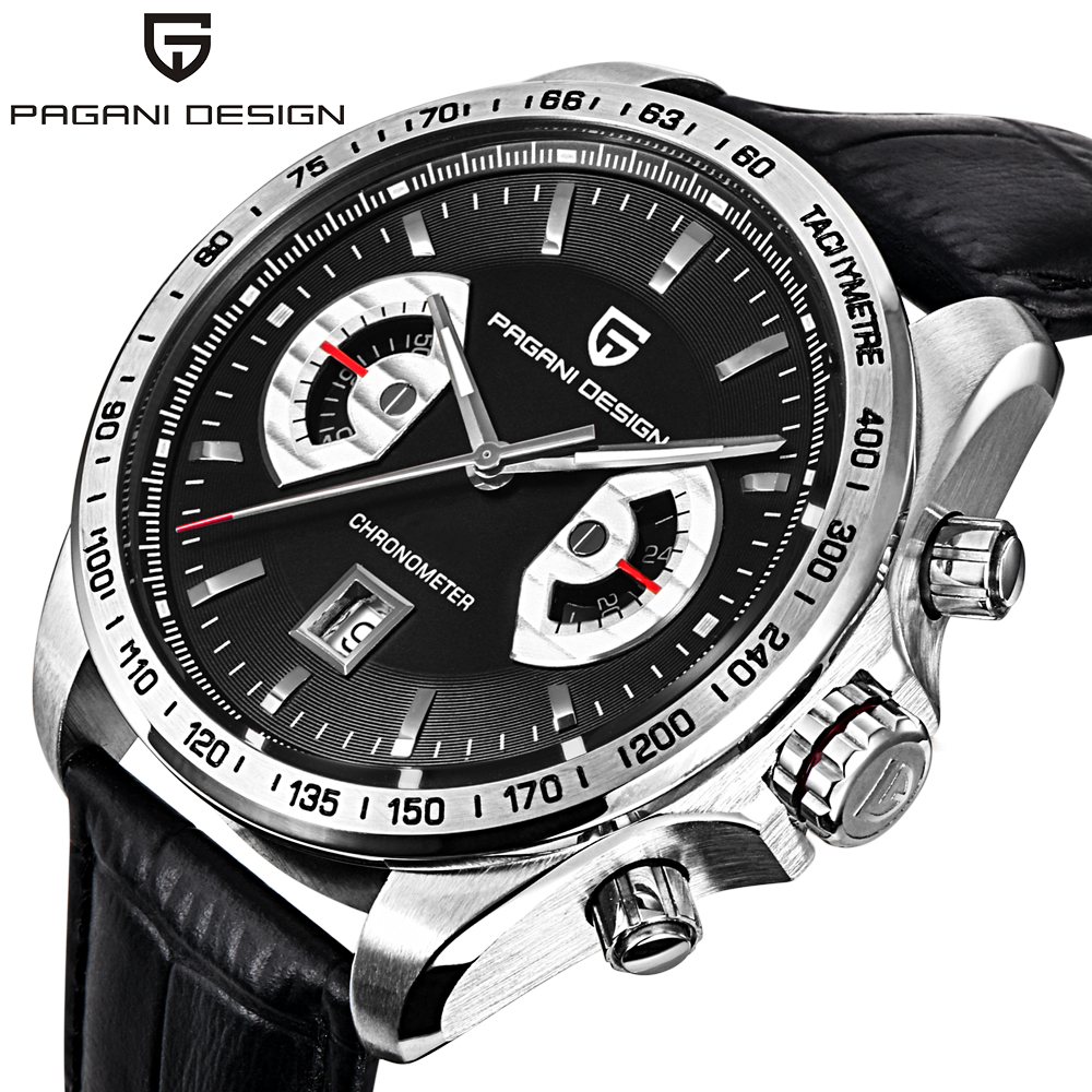 Watches Men Luxury Brand PAGANI DESIGN Big Dial Multifunction Quartz Watch Sport Dive 30m Military Wristwatch  relogio masculino