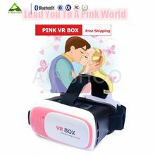 Newest VR BOX Up Colorful Version Google Cardboard VR Headset Virtual Reality 3D Glass Game Movie + Wireless Gamepad Control