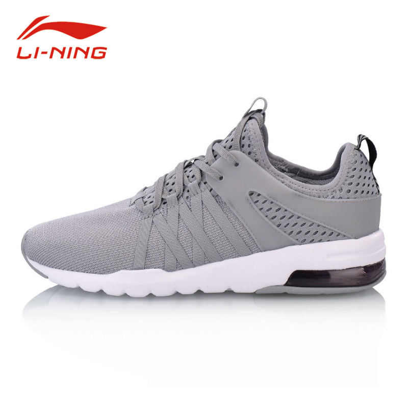Li Ning Men Classic Breathable Support Walking Shoes BUBBLE UP Cushioning Sneakers LiNing Fitness Jogging Sports